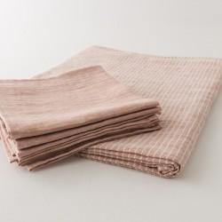 lin à motif nappes et serviettes