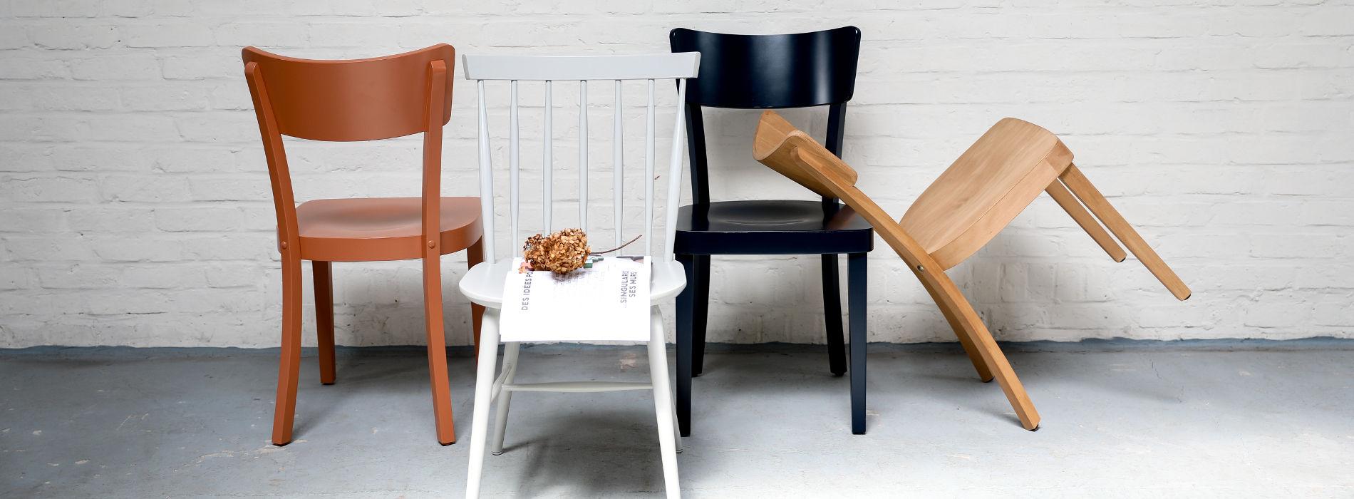 Chaise Thonet en bois brut ou laquées
