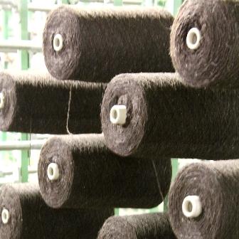 Couverture en pure laine vierge, bobines de laine Burel prêtes à tisser