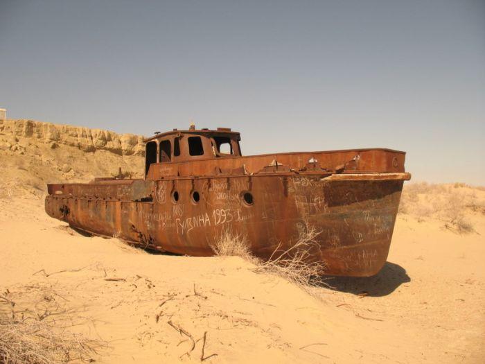 Linge de maison en lin, assèchement mer d'Aral dû au coton