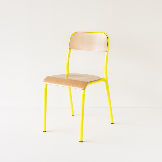 Chaise d'école Landmade coloris jaune