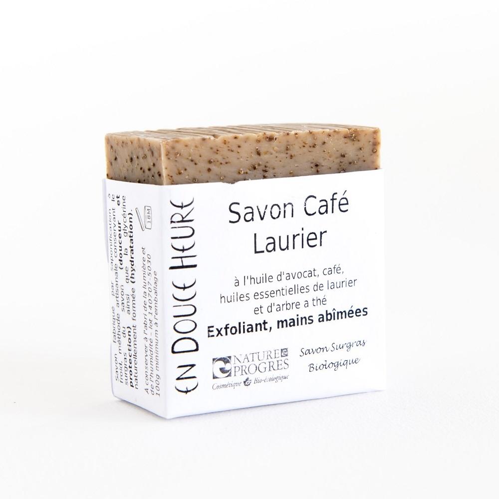 Nature & progrès, savon bio café-laurier