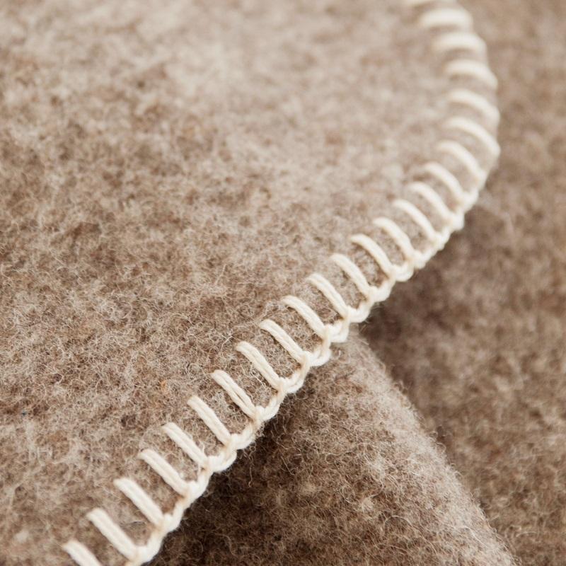 Couverture en pure laine coloris Bizet
