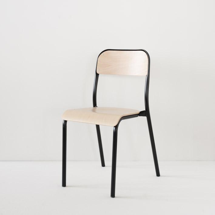 Chaise d'école Landmade coloris noir