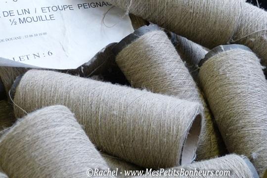 Landmade et le lin : bobines de fils