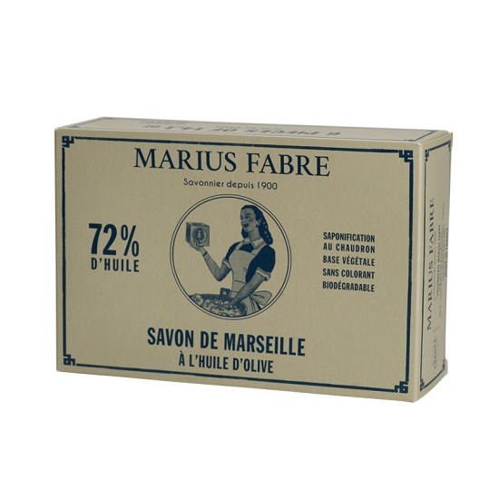 boite de 6 x 400 g cube savon de Marseille olive