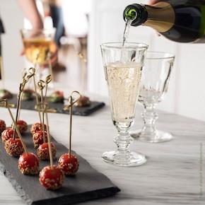 Flute à champagne et verre à vin Périgord de chez La Rochère