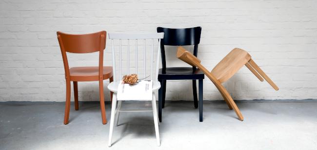 chaise filby terracotta, chaise scandinave lichen, chaise filby noire et cirée couleur chêne moyen