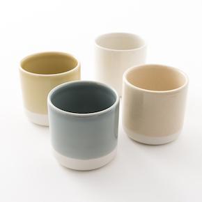 gobelets en grès de chez jars céramistes, collection cantine