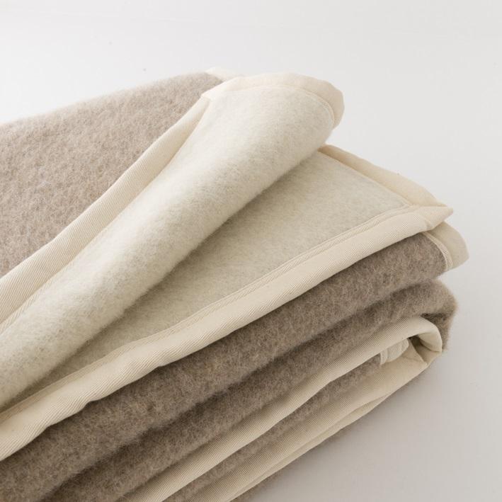 couvertures en laine naturelle sans teinture